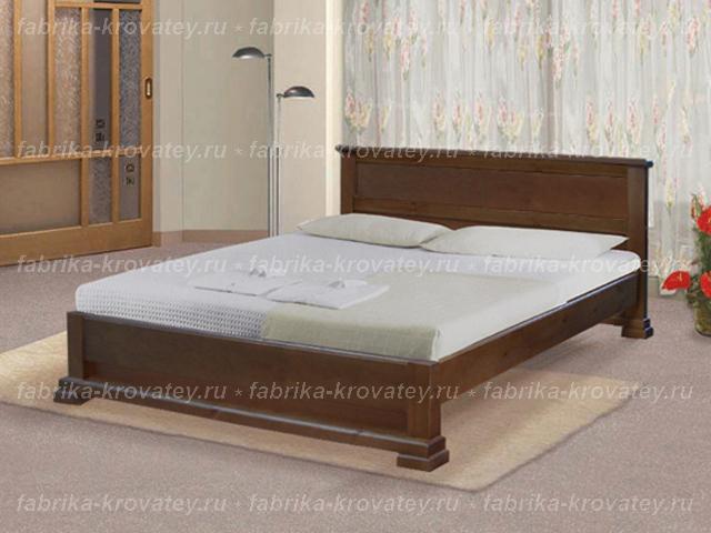 Кровать из дерева двуспальную с матрасом